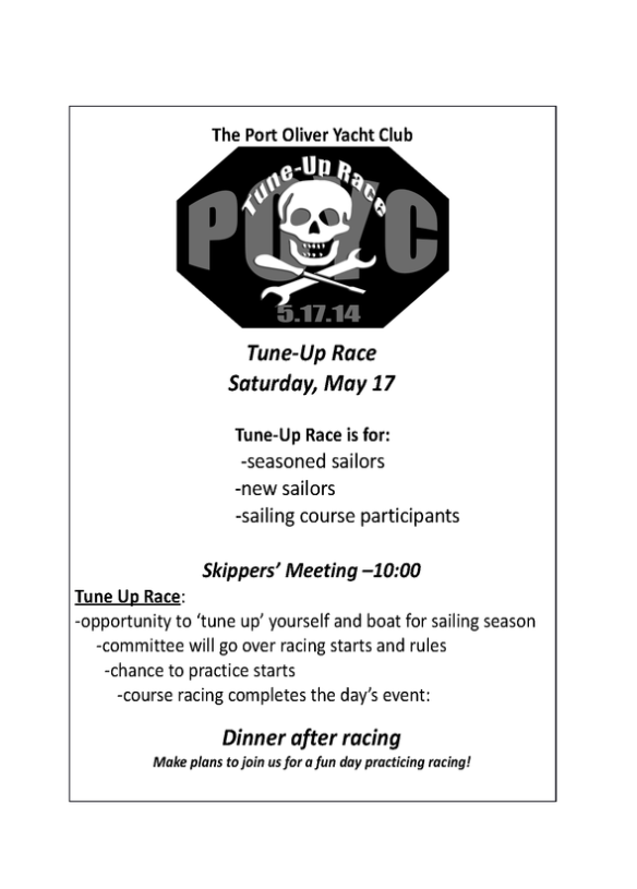 Image of Tune-Up Race Flyer